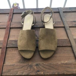 Olive Open Toe mini wedge